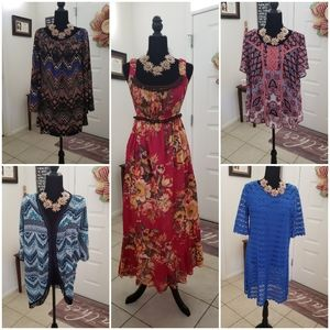 5 PC Lot Women's Dresses and Tops